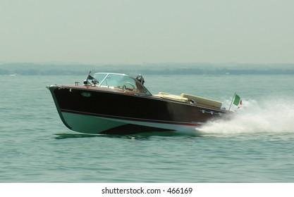 Riva speedboat on the Garda lake