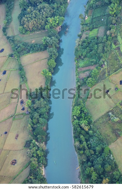 River from above, Bird Eye View