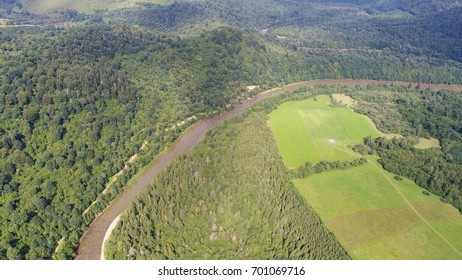 River from the air