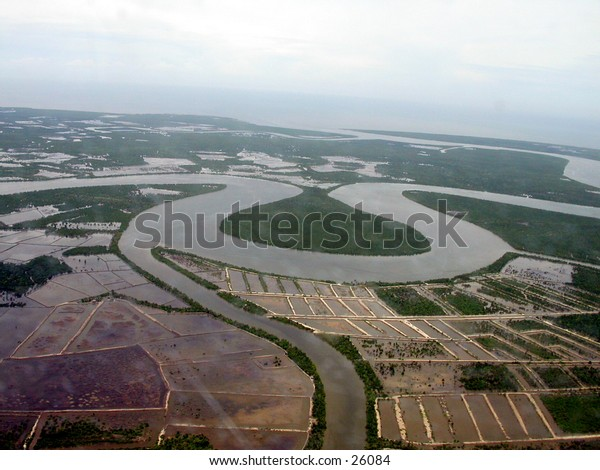 River from air