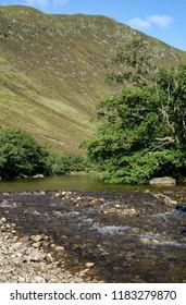 River Almond, Sma' Glen, Perth & Kinross, Scotland Cliffs of The Scurran behind