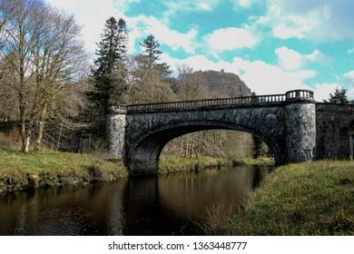 River Aray bridge at Inveraray Castle Argyll Scotland
