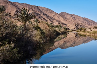 River at the Atlas Mountains, south of Morocco