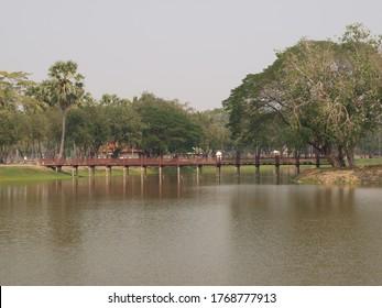 River in Ayutthaya historical Park