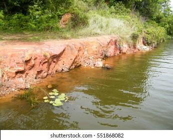 River Bank. The river flowing through a rural village of Sri Lanka.