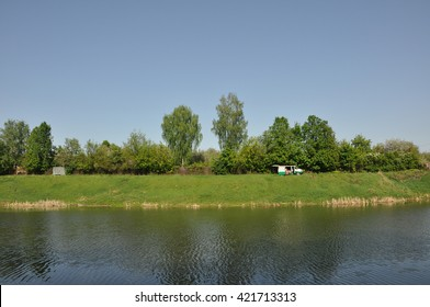 the river Bank in Tula. spring landscape