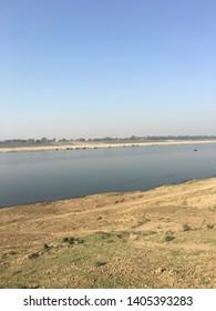 River bank of Yamuna river of North India