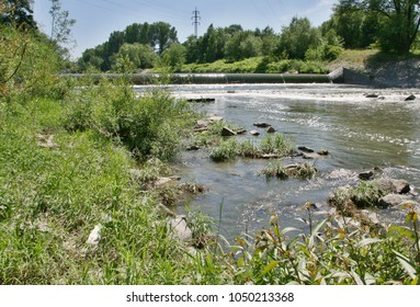 River Becva has left the city and overtakes the flow to slow down the flow