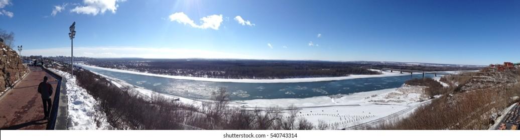 river Belaya in Ufa, Russia