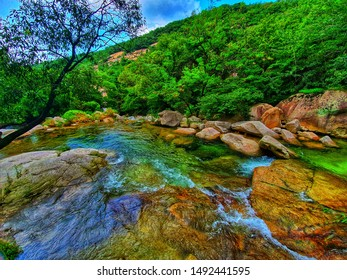 the river beside way to go trekking on the mountain very fresh air in Nature and beautiful rivers good for wild animals
