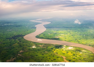 River from Bird's Eye View