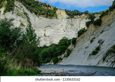River at bottom of the cliffs