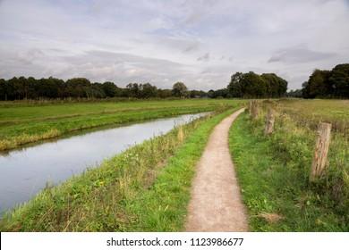 The river Boven Slinge at the manor Walfort near Bredevoort in the Gelderse Achterhoek