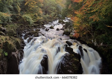 River Braan Waterfall by The Hermitage in Autumn