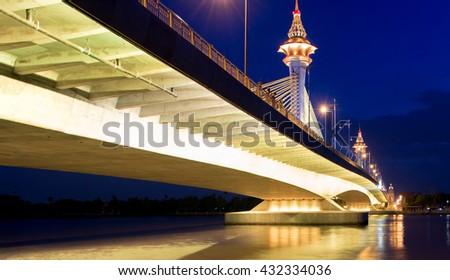 River bridge at night