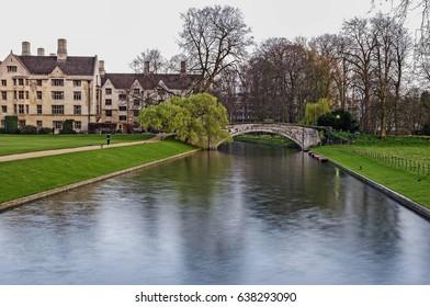 River Cam at the Clare college in Cambridge university