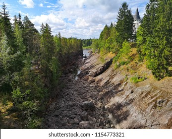 river canyon in Finland