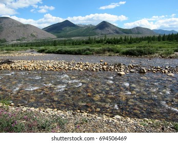 River with clear water in Siberia, Russia