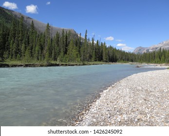 river close to Paint Pots Kootenay National Park Rocky Mountains British Columbia Canada July