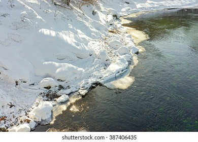 River in cold winter day, Irkutsk