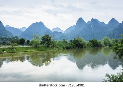 The river and countryside scenery in summer