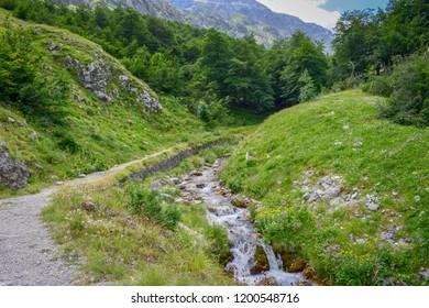 River crossing the Gran Sasso Mountains, Teramo province, Abruzzo region, Italy