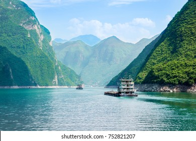 River cruise in China - ships on the Yangtze River