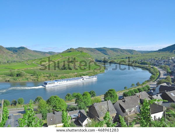 River Cruise in Mosel Valley near Cochem,Rhineland-Palatinate,Germany