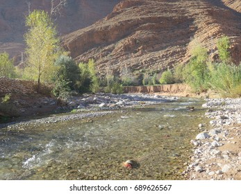 River in the Dades valley