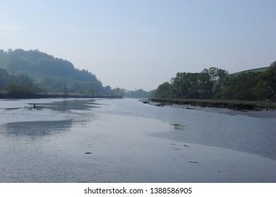 The River Dart coming to Totnes Devon
