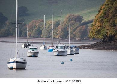 River Dart, Stoke Gabriel, English Village, Totnes, Devon, UK
