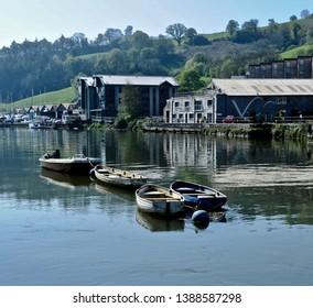 The River Dart at Totnes Devon