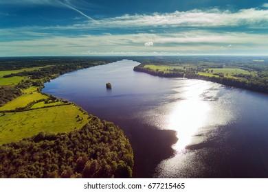 River Daugava at Aizkraukle, Latvia.