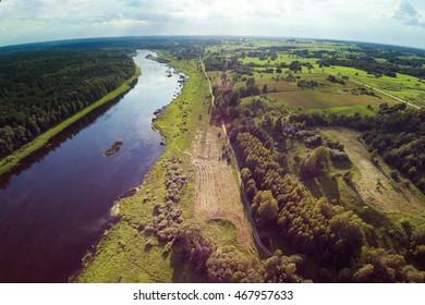 River Daugava near Kraslava, Latvia.