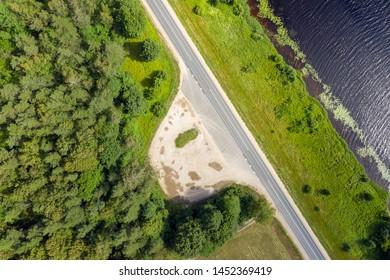 River Daugava in summer afternoon, central Latvia.
