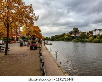 River Dee in Chester during autumn