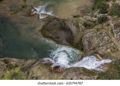 River in a deep valley of the Cévennes