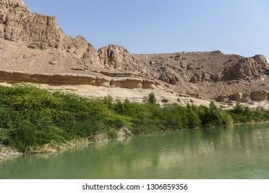 River in the desert.