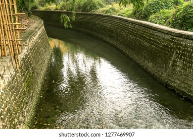 a river ditch for drainage