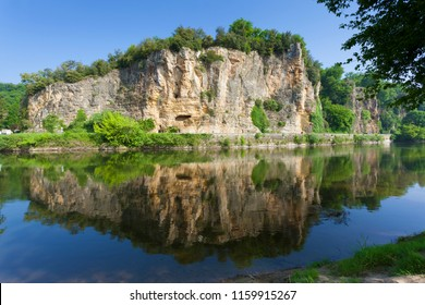 River Dordogne, Domme, Dordogne, Nouvelle-Aquitaine, France