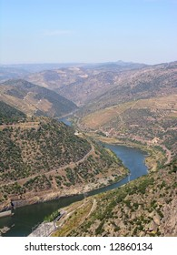 The river douro, in the Oporto wine vineyards region in North Portugal