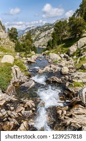 River Downstream iin the Catalan Pyrenees