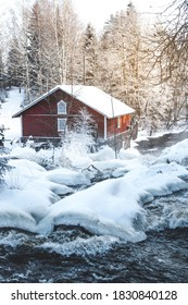 River during winter, Immila, Finland