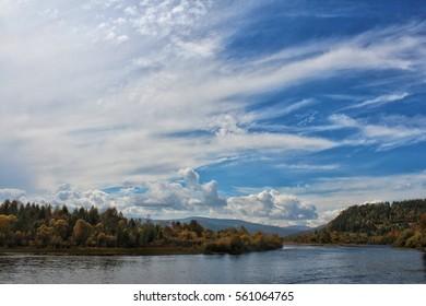 River Dzida, Chamar-Daban in autumn