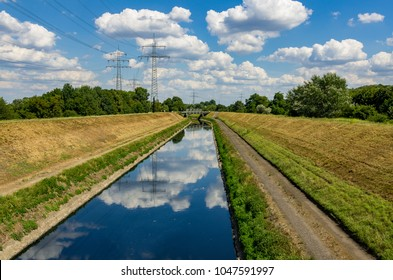 The river Emscher by Essen, Germany