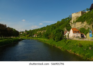 the River Enz in Muhlacker, Baden-Wuerttemberg, Germany, Europe