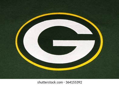 RIVER FALLS,WISCONSIN-JANUARY 16,2016: The Green Bay Packers emblem on a team sweatshirt.