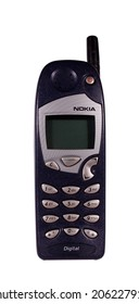RIVER FALLS,WISCONSIN-JULY 21,2014: A vintage Nokia cell phone. Nokia Oys is a Finnish communications and information technology corporation.