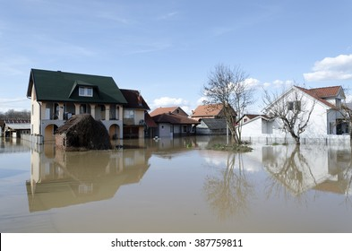 River flood, Serbia Kraljevo Zapadna Morava 2016