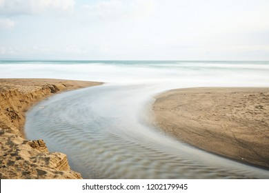 River flowing in to the ocean